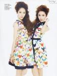 SNSD Jessica f(x) Krystal Marie Claire Magazine (2)