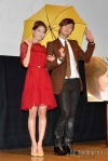 snsd yoona jang geun suk at the press con of love rain in japan (1)