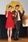 snsd yoona jang geun suk at the press con of love rain in japan (1)