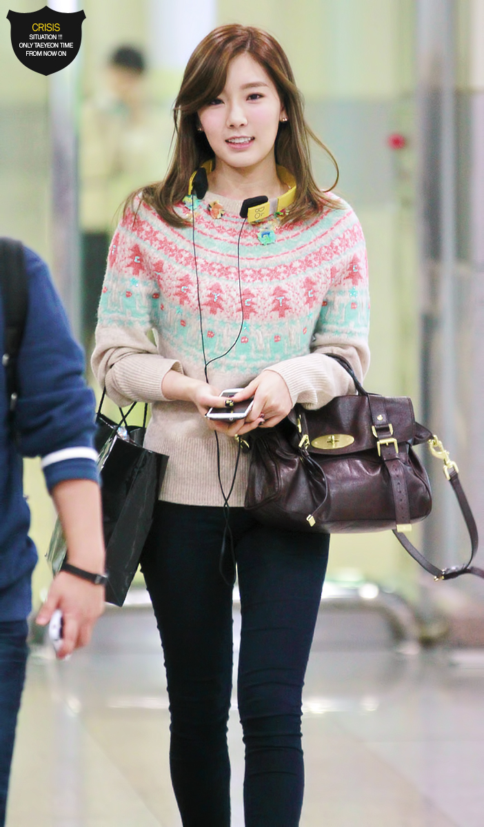 121015 taetiseo gimpo airport fashion snsd korean