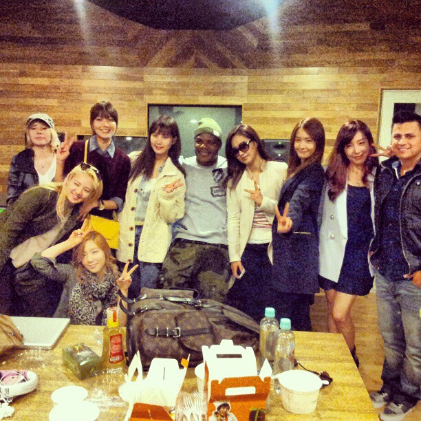 snsd with ricky luna and sean garret